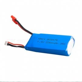 7.4V 2000mAh 35C Battery with Banana Plug for X8C X8W X8G X8HC X8HW X8HG Quadcopter