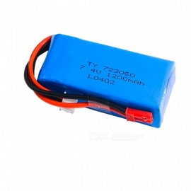 7.4V 1200mAh 723060 JST Plug Lipo Battery for WLtoys V262 V333 V353B V666 Q212 RC Quadcopter Toys