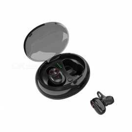 VRrobot TWS-V5 Bluetooth Earphone Wireless Earphone In-Ear earbuds Headphone - Black