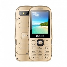 PLUZZ P518 2.4 Inches Screen metal Battery Cover Dual SIM Feature Phone