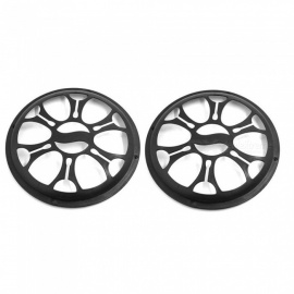 CARKING 2pcs Universal Car Plastic Round Grill Cover Fits 6 Inch Audio Speaker Subwoofers - Black