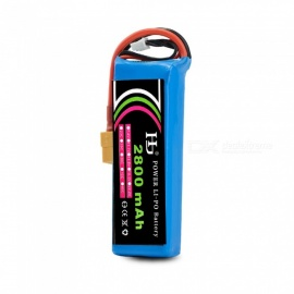 HJ Power 1PCS 11.1V 40C 2800mAh XT60 Plug High Lipo Battery For CX-20 V303 RC Remote Control Helicopter Quadcopter -Blue
