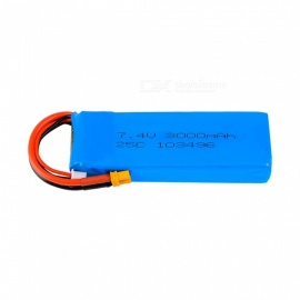 7.4V 25C 3000mAh XT60 Plug High Lipo Battery for MJX B6 B8 RC Remote Control Helicopter Quadcopter Drone