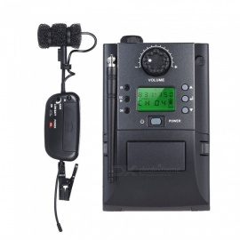 Professional UHF Wireless System Receiver Transmitter with Microphone Instrument Set for Saxophone