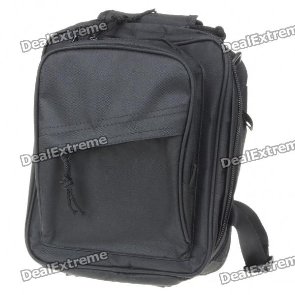 Vintage Multi-Pocket Nylon Backpack/Handbag/Messenger Bag - Black