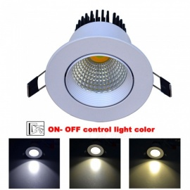 Jiawen 5W LED tre farge lys downlight embedded spotlight taklampe AC 100 ~ 240V