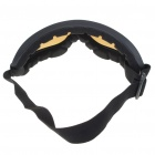 ABS + Sponge UV400 Protection Safety Goggles Glasses with Elastic Strap - Dark Brown Lens