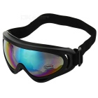 ABS + Sponge UV400 Protection Safety Goggles Glasses with Elastic Strap - Translucent Lens