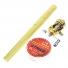 Fish-Everywhere Pocket Pen Style Fishing Rod and Reel Kit - Green Yellow (Extended Length 90CM)
