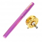 Fish-Everywhere Pocket Pen Style Fishing Rod and Reel Kit - Purple Red (Extended Length 95CM)