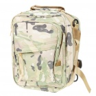 Vintage Multi-Pocket Nylon Backpack/Handbag/Messenger Bag - CP Camouflage