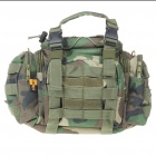Vintage Multi-Pocket Nylon Cloth Handbag/Messenger/Waist Bag for Camera - Woodland Camouflage