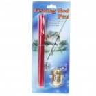 Fish-Everywhere Pocket Pen Style Fishing Rod and Reel Kit - Red (Extended Length 90CM)
