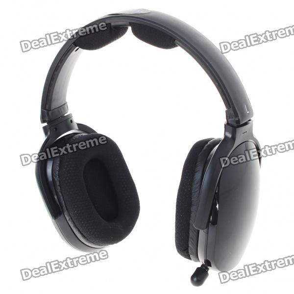 USB Rechargeable Hi-Fi Headphone Sports MP3 Player with FM Radio & Microphone - Black (TF Card Slot) 2016 superior quality mosunx 5in1 wireless headphone casque audio sans fil ecouteur hi fi radio fm tv mp3 mp4 au19