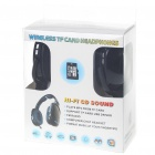 USB Rechargeable Hi-Fi Headphone Sports MP3 Player with FM Radio & Microphone - Black (TF Card Slot)