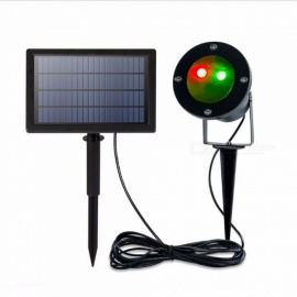 Outdoor Waterproof Solar Laser Light Landscape Lamp For Garden Yard Christmas Holiday Decor, Star Projector Spotlight Black