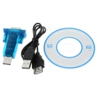 Dongle USB a RS232 con cable de extensión - azul