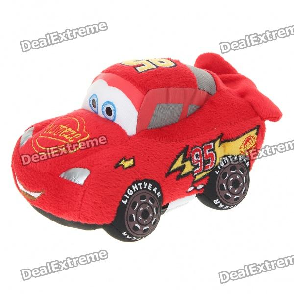 Cars Figure Soft Plush Toy with Suction Cup - Red