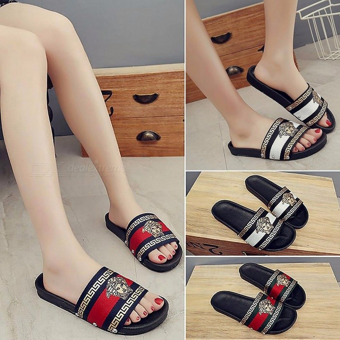 24d43037a9e43 Summer Fashion Stylish Printing Women Sandal Slipper