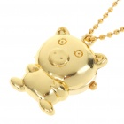 Cute Golden Pig Style Stainless Steel Quartz Watch with Neck Chains (1 x 377)