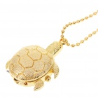 Cute Golden Turtle Style Stainless Steel Quartz Watch with Neck Chains (1 x 377)