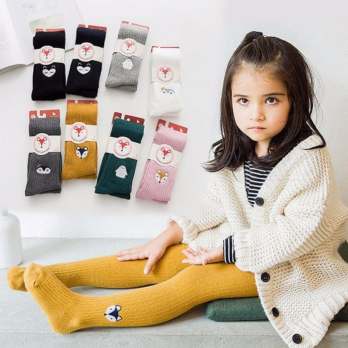 Autumn Embroidery Cartoon Children Girl Pantyhose Stockings, Soft Cotton  Warm Tights For 2-12 Years Old Kids (1 Pair) Pink/4-6T - Worldwide Free  Shipping - ...