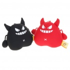 Mini Devil Figure Toy with Suction Cups - Black + Red (Pair)