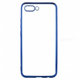 ASLING Transparent Back Case for Huawei Honor 10 Electroplating TPU Soft Cover Protector - Blue