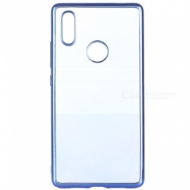 ASLING Transparent Back Case for Xiaomi 8 SE Electroplating TPU Soft Cover Protector - Blue