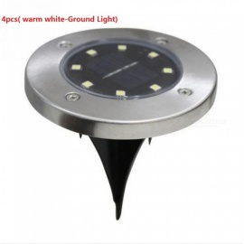 ZHAOYAO 8 LEDs Inserted Solar Power Lights Under Ground Lamp Outdoor Path Garden Light - Warm White