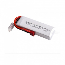 1PC 7.4V 25C 3400mAh T plug for BG1513 734A Transmitter RC Remote Control Helicopter Quadcopter Drone Part - White