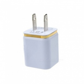 SZKINSTON Home High Current Fast Charger Portable Charger Phone USB Charger US Plug 2 USB Port 2A AC 100V-240V Chargers - Gold