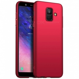 Naxtop PC Hard Protective Back Case for Samsung Galaxy A6 (2018) - Red