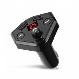 Quelima B4 Dual USB Car Bluetooth FM Transmitter - Black