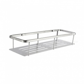 SUS304 Stainless Steel Wall Mounted Shelf For Bathroom Accessory Shelf SBH185A 40cm - Silver