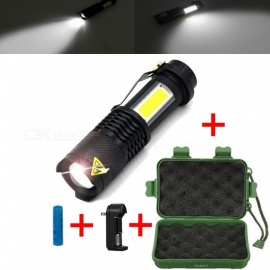 ESAMACT Portable Mini Waterproof LED Flashlight, Zoom LED Torch Penlight, Use AA 14500 Battery Lighting lantern