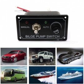 S3653 DC 12V 3-Way Toggle Switch Panel with Fuse (Manual - Off - Auto) for Car, Yacht Modification
