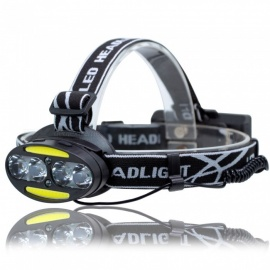 UF-2504A COB + LED Light 3000LM 7-Modes Super Bright Headlight Cold White