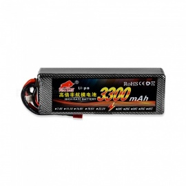 11.1V 3300mAh 40C MAX 70C Lipo Battery 3S for RC Car, 1/10 RC Car Boat Blade 350 QX2 QX3 Helicopter