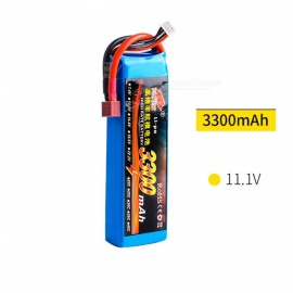 11.1V 25C 3300mAh T Plug High Lipo Battery for Remote Control Helicopter Quadcopter - Blue
