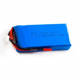 7.4V 2800mah 40C 2S Lipo battery For WLToys V262 V333 V323 V666 / RC Helicopter - Blue