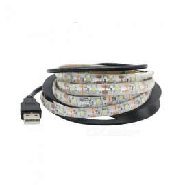 DC 5V USB LED stripe lys vanntett hvitt lys 1m 2835 60leds / m fleksibel lys stripe for TV bakgrunnsbelysning