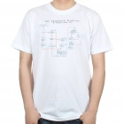 The Big Bang Theory Series The Friendship Algorithm Design Cotton T-shirt - White (Size M)