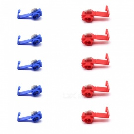 Car Modification Free Break Line Clips Wire Connectors Lossless Wiring Clamps - Red + Blue