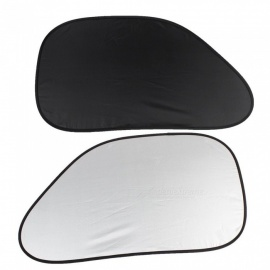 CARKING 2Pcs Black Polyester Car Automobile Side Window Sunshades w/ Suction Cups