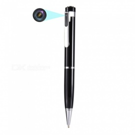 T88 Portable Mini Pen, 1080P HD Camera with 64GB High Speed TF Memory Card for Recordable Photography - Silver