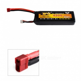 1PCS 11.1V 25C 4200mah T plug high lipo аккумулятор дистанционного управления вертолет quadcopter - черный