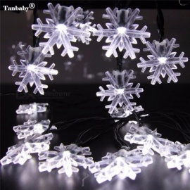 Waterproof Snowflake 6M 30 LEDs Solar Powered Led Outdoor String Light Led For Christmas Garden Patio Fence Lights Blue/0-5W