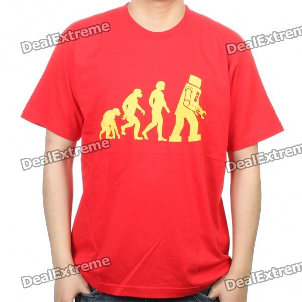 The Big Bang Theory Series Evolution Design Cotton T-shirt - Red (Size XL) the big bang theory series the flash design cotton t shirt red size m
