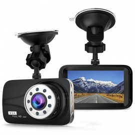"1080P 3"" LCD Car DVR Singnal Camera Video Recorder with G-Sensor / Night Vision / Motion Detection / WDR 170 Degree Wide Angle"
